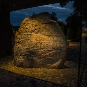 Visit the Viking rune stones in Jelling, a UNESCO world heritage site