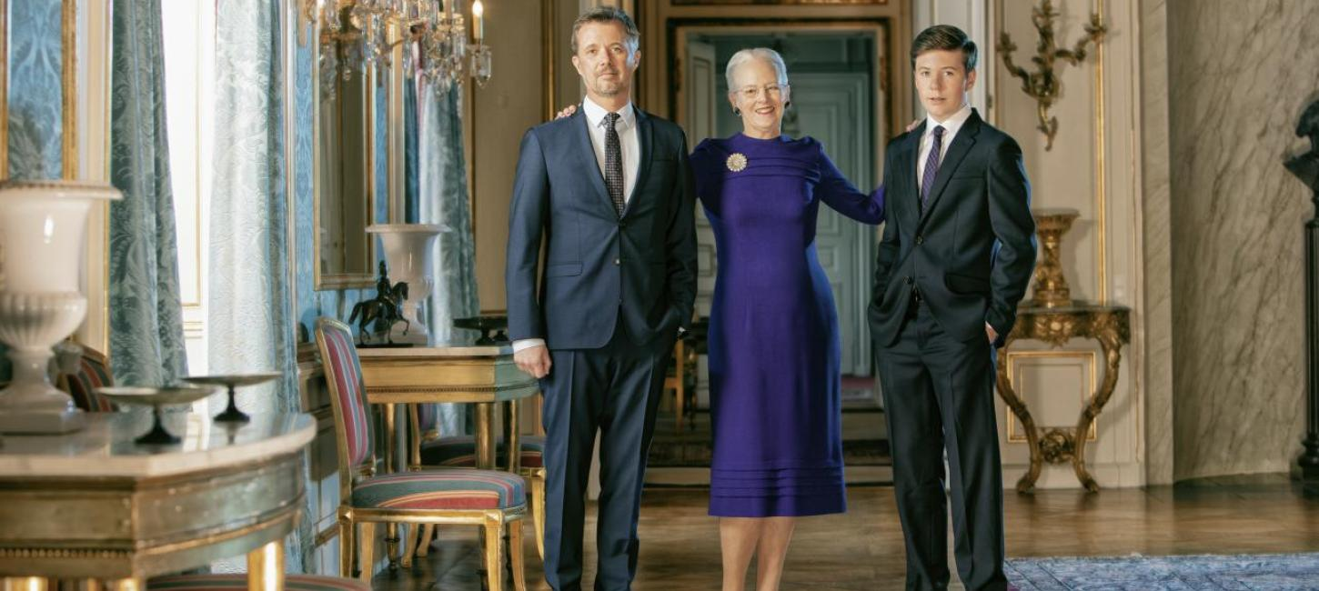 The Queen's Official birthday portrait 2020 with her son and grandson