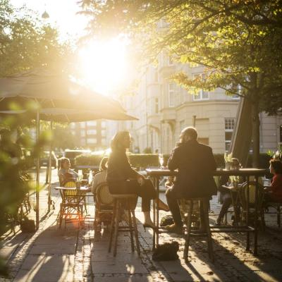 Østerbro is filled with squares where locals meet up for drinks and a bite to eat