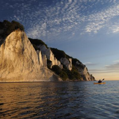 Kayaking at Møns Klint